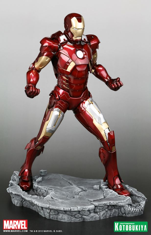 new statue images show off the avengers mark vii iron man