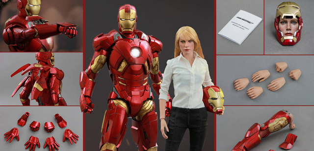 The Iron Man 3 version of Pepper Potts is the latest character from the Marvel Cinematic Universe to get a highly detailed Hot Toys action figure.