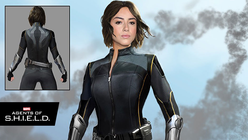 Take another look at the Quake costume that will be worn by Chloe Bennett's Daisy Johnson when Marvel's Agents of SHIELD returns to ABC September 29.