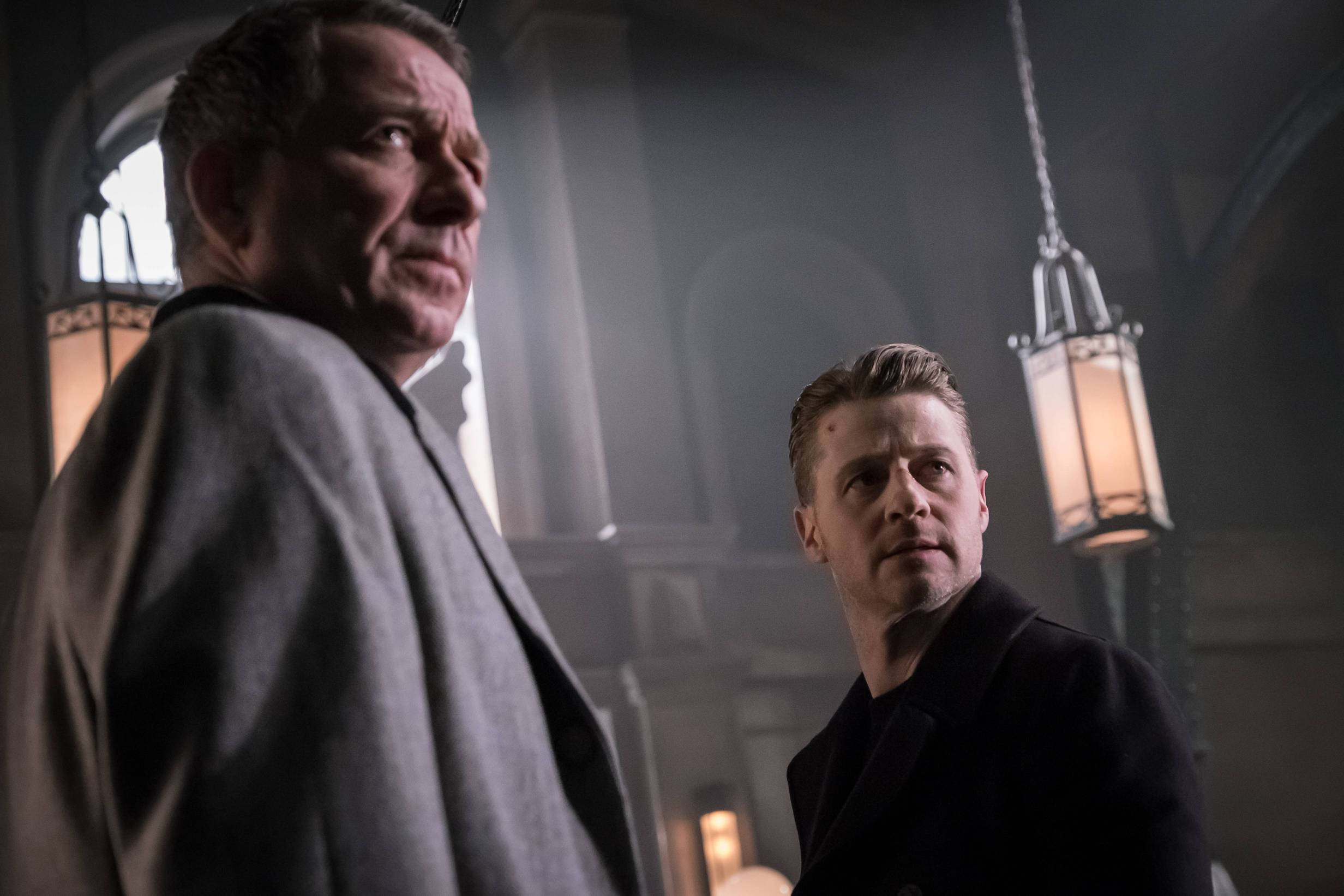 GOTHAM: L-R: Sean Pertwee and Ben McKeznie in the