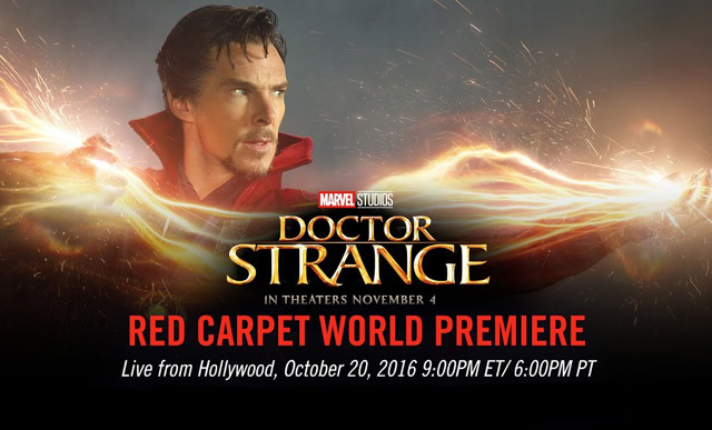 Doctor Strange Red Carpet Premiere Live Stream