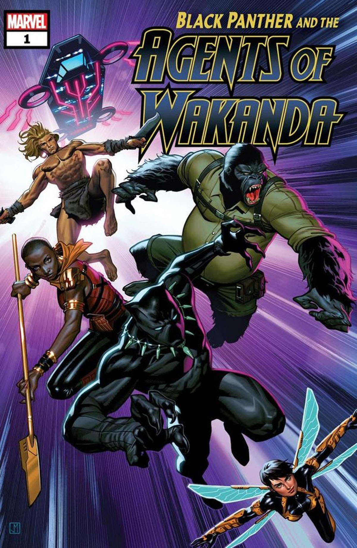 Black Panther and the Agents of Wakanda #1 cover a