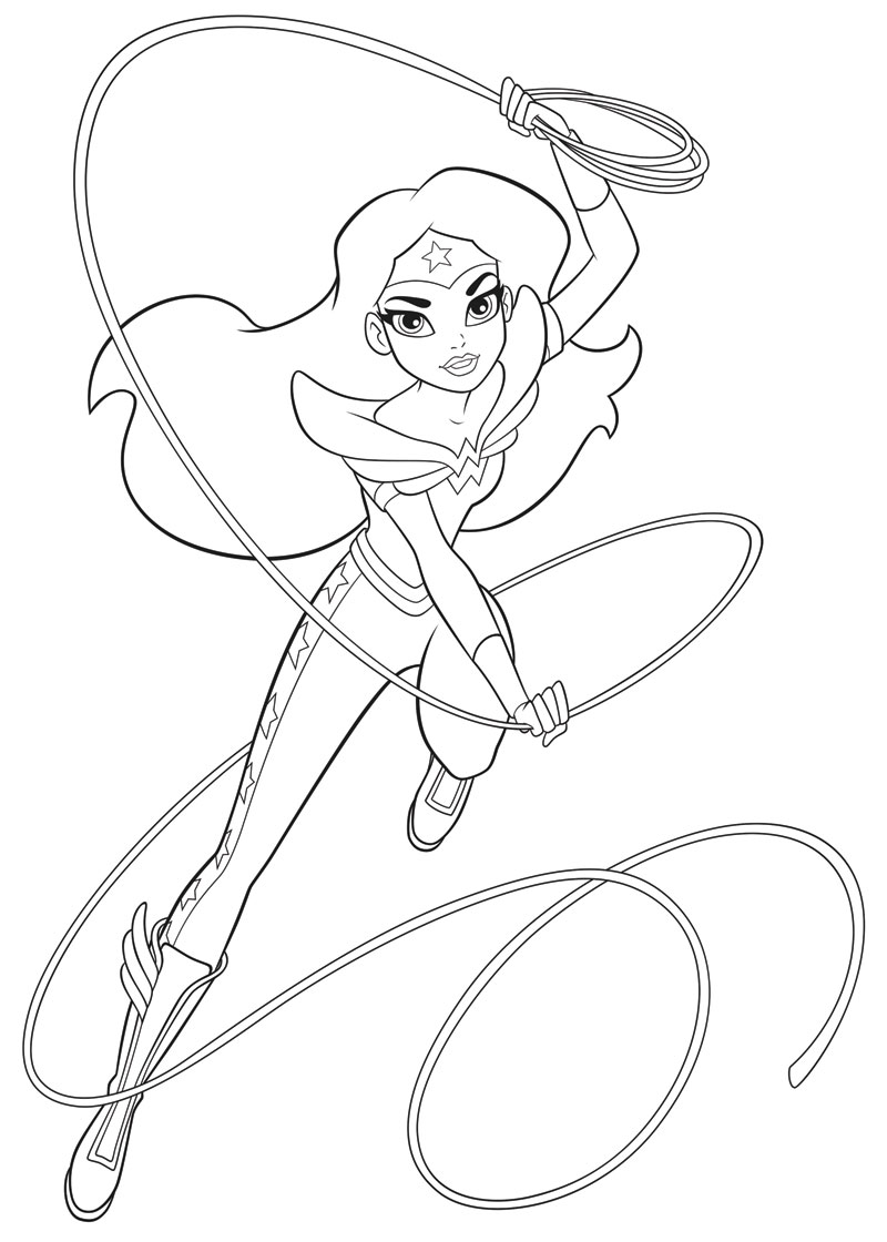 dc super hero girls a kids coloring book