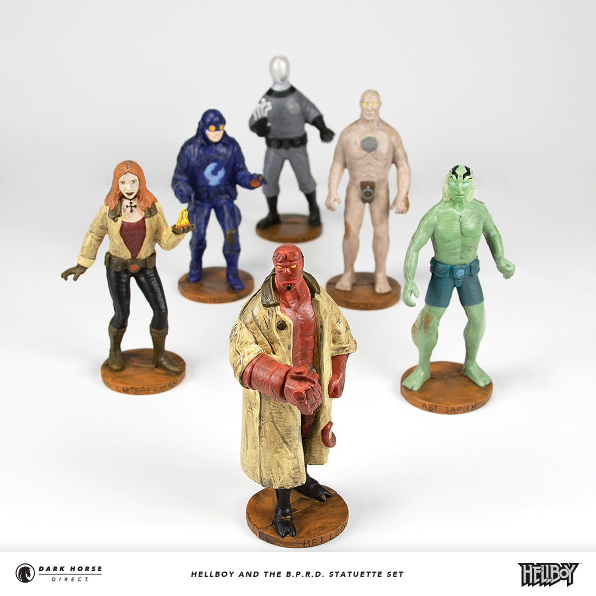 Hellboy and the B.D.P.D. Statuette Set