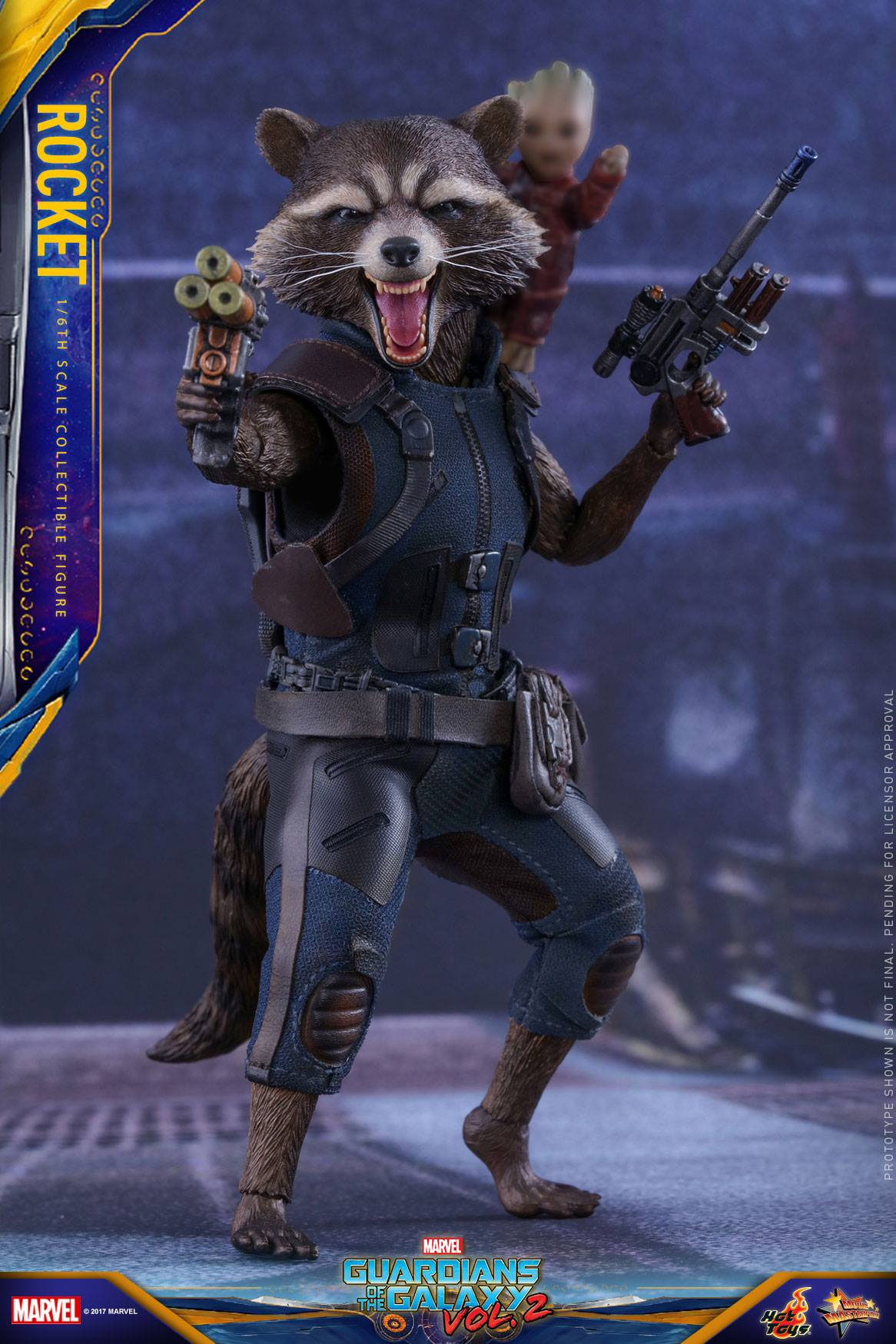 Rocket Raccoon Hot Toy from Guardians of the Galaxy Vol  2