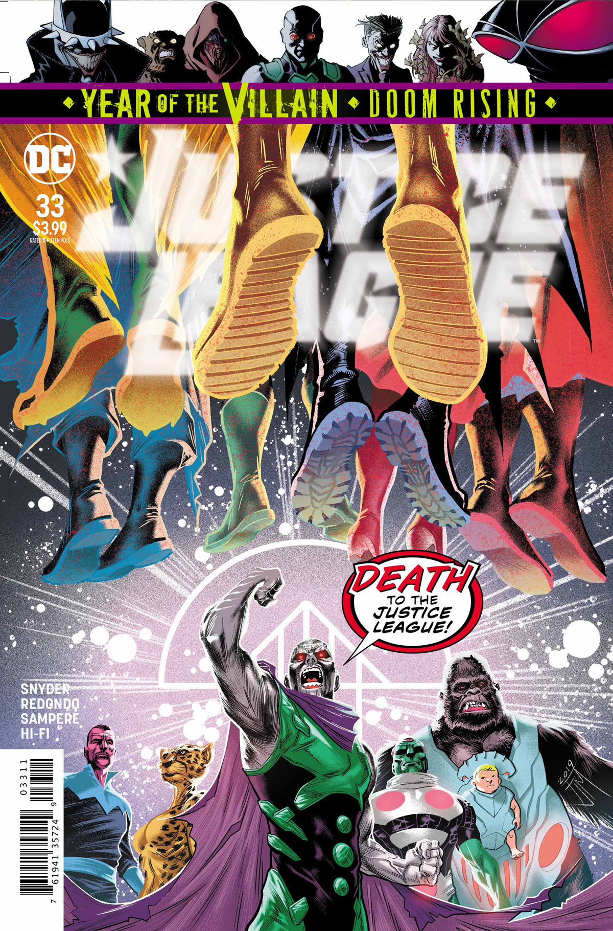 Justice League #33 cover