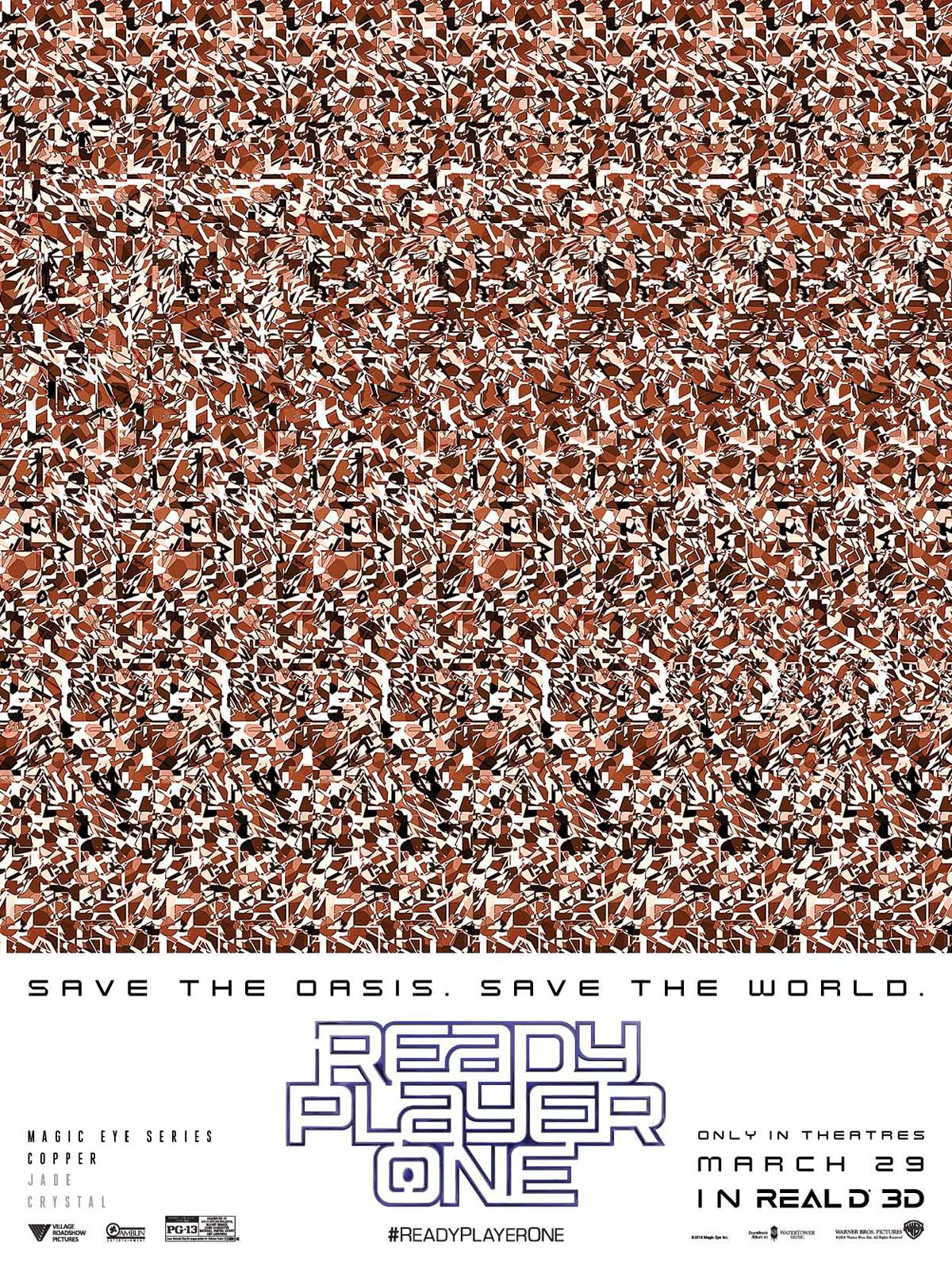 Ready Player One Magic Eye Prints from RealD